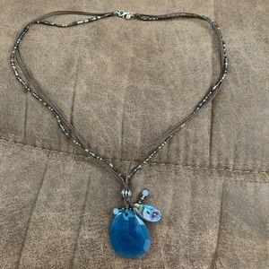 Indigo mood necklace